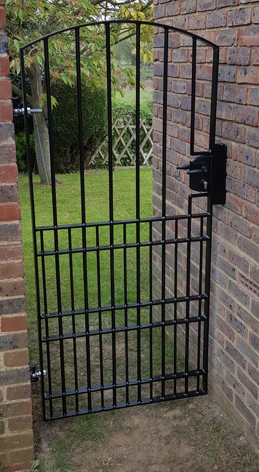 New gate made to clients requirements with lock incorporated for added security.